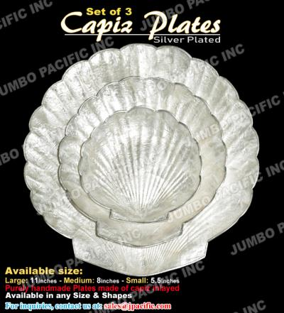 Capiz Plates Silver