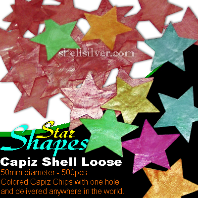 50mm Star Colored CapizLoose