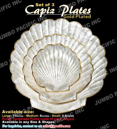 Capiz Plates Gold