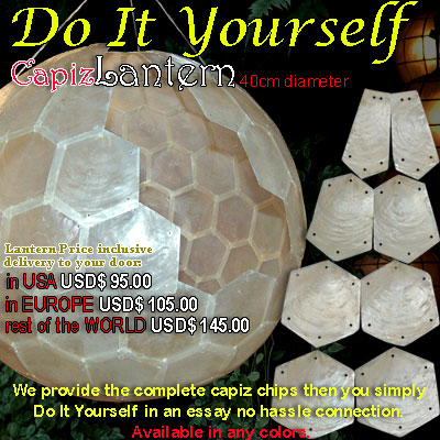 LanternW Capiz Lantern