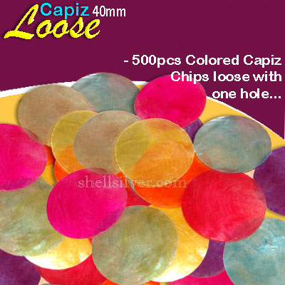 40mmColoredCapizLoose Delivered anywhere in the world
