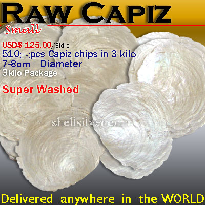 Capiz RawS Delivered anywhere in the world