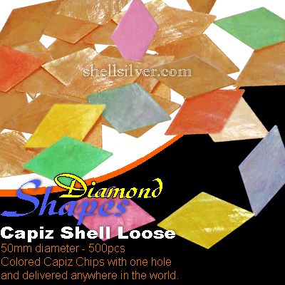 50mm Diamond Colored CapizLoose
